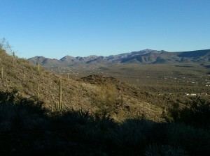 View of New River, AZ to the North
