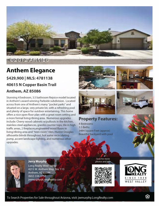 Anthem Az Homes For Sale Beautiful Rejoice Model In