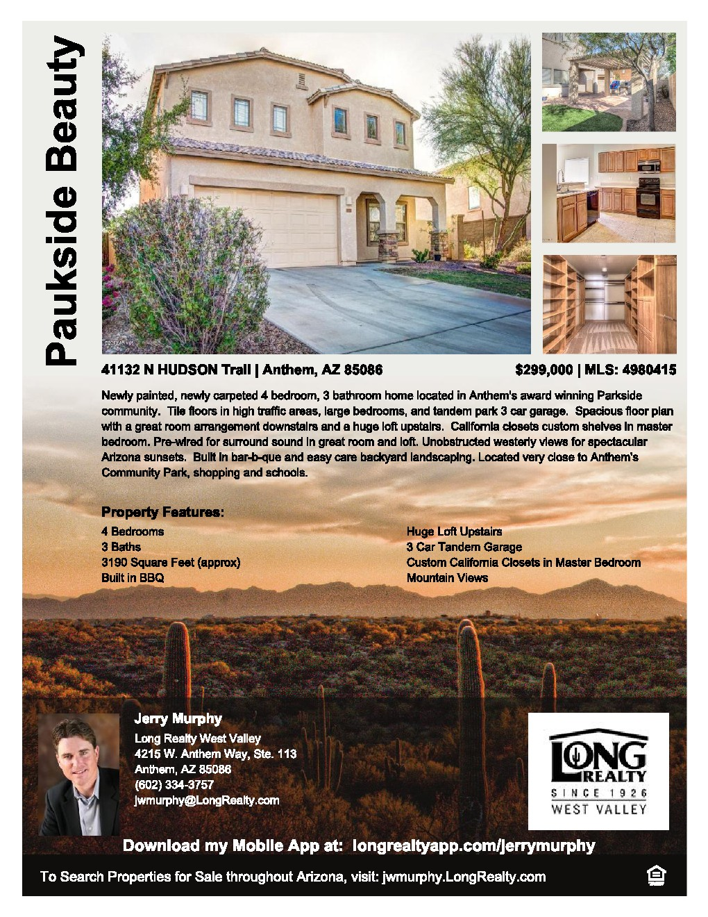 Anthem Parkside Beauty New Listing All About Anthem