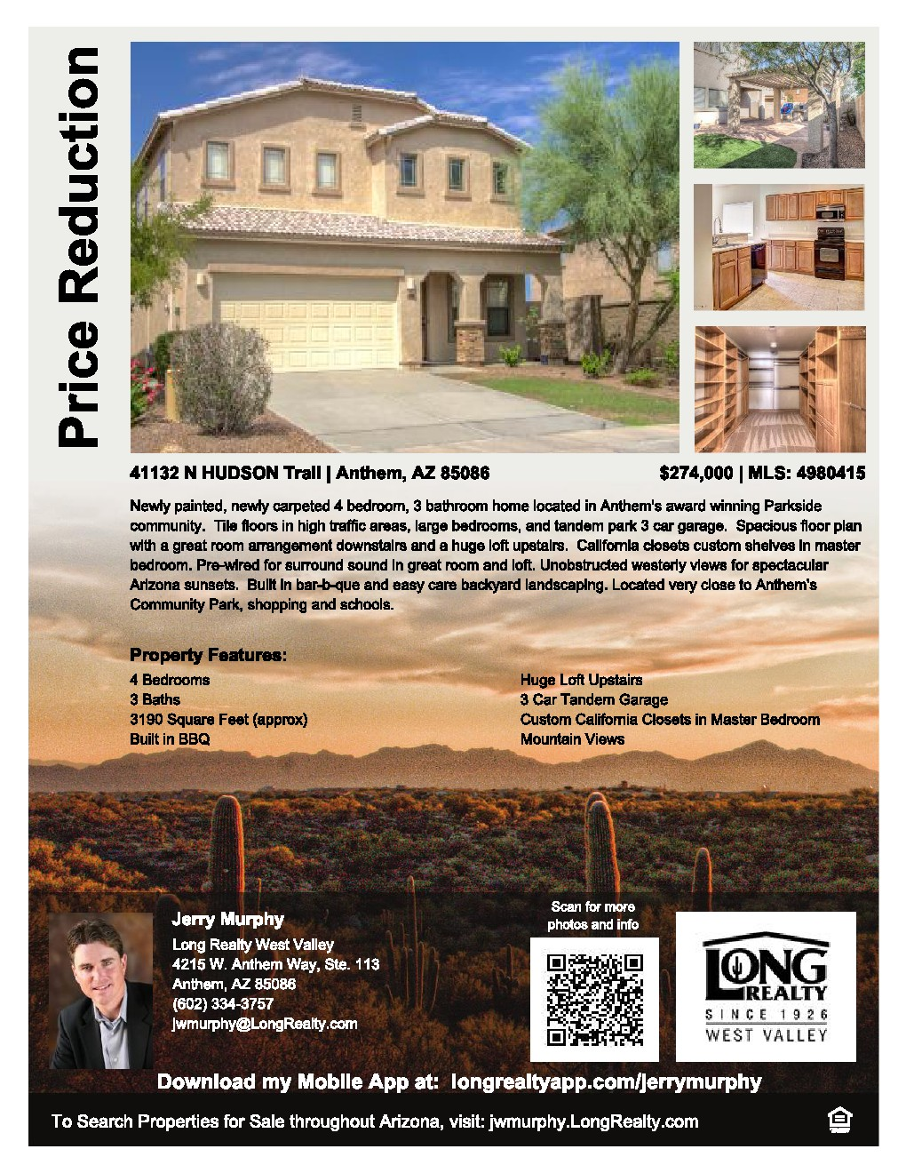 Price Reduction 4 Bedroom 3 Bathroom Anthem Home Now