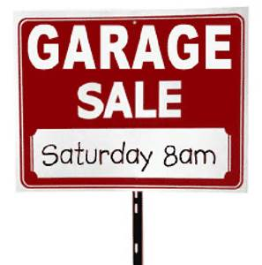 Picture of garage sale sign