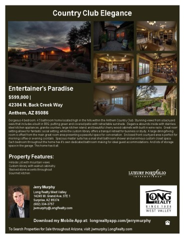 Back Creek Way Property Flyer